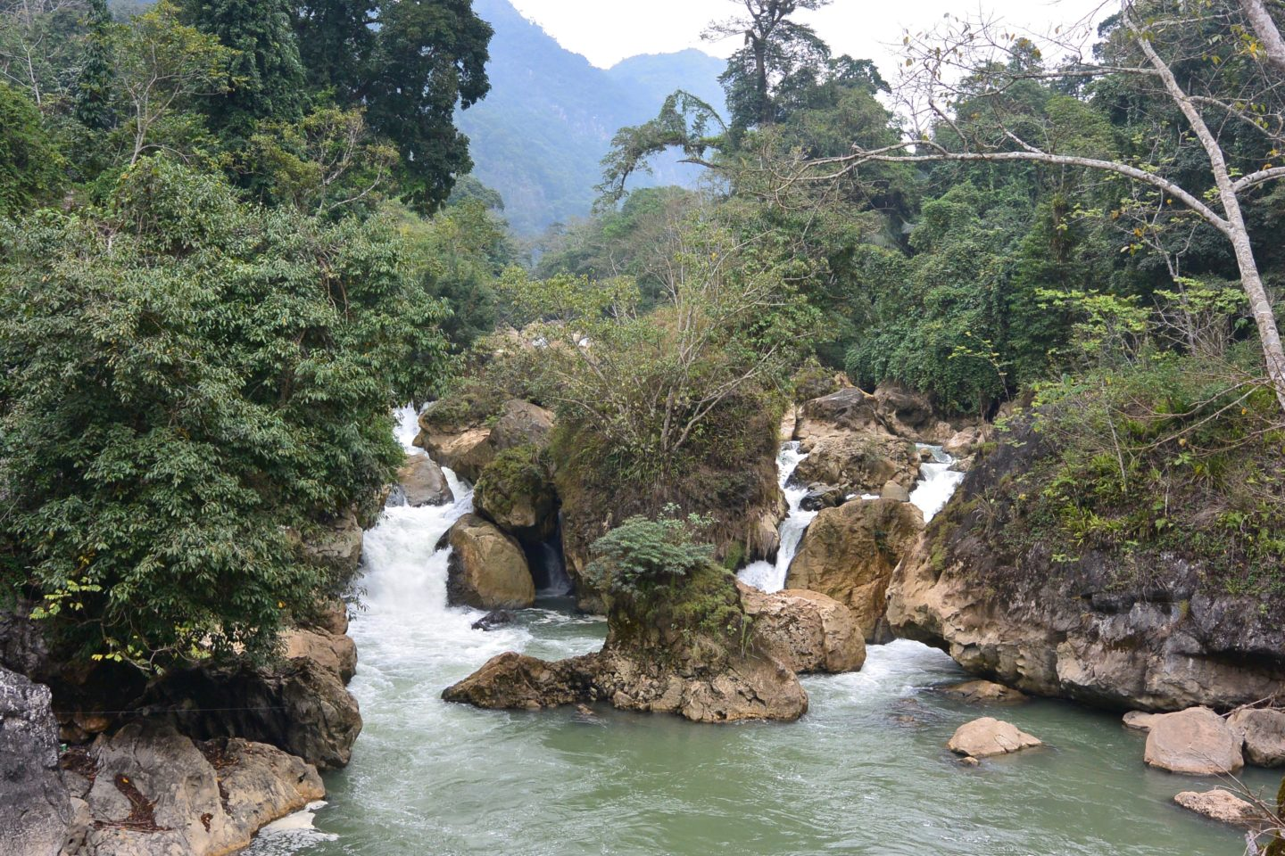 Dau Dang Waterfall from its viewpoint