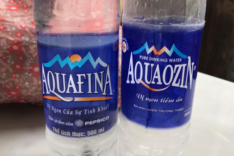 aquafina aquaozin agua trucha en vietnam
