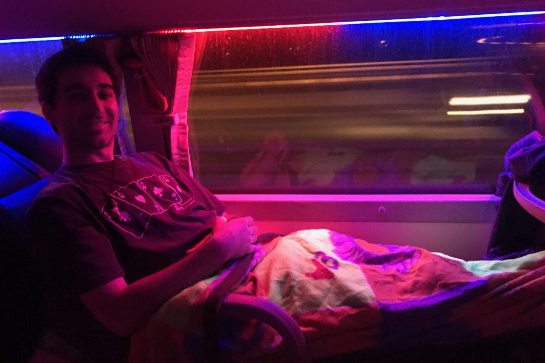 Jeremaixs en el bus nocturno a Sapa