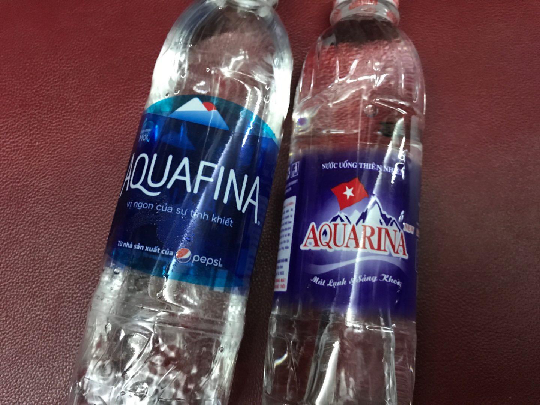 agua trucha en el norte de vietnam aquafina vs aquarina