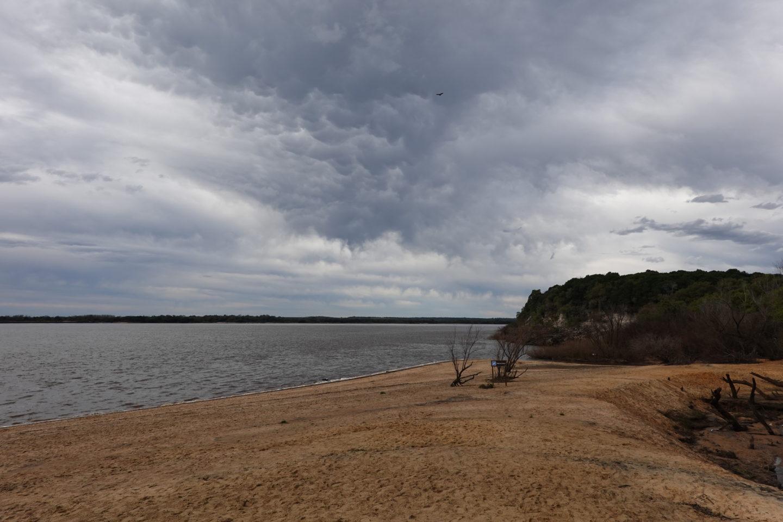 playa de la calera en invierno