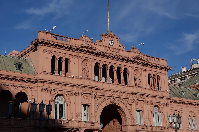 Casa Rosada viewed from Plaza de Mayo.