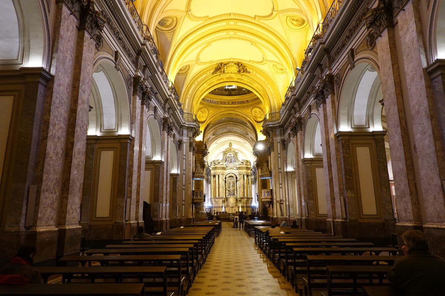 Inside the Metropolitan Cathedral of Buenos Aires.
