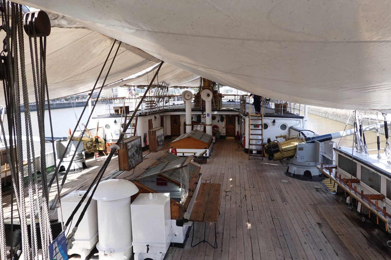Deck of the Fragata Sarmiento ship museum.
