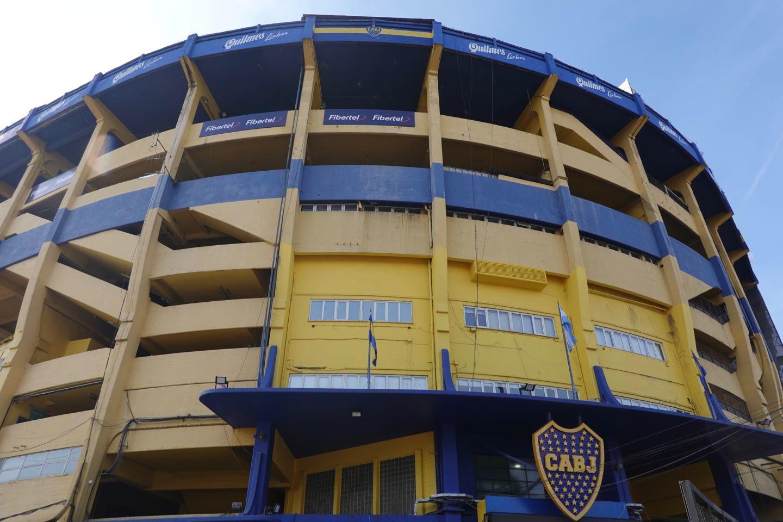 "Boca Junios football stadium ""La Bombonera""."