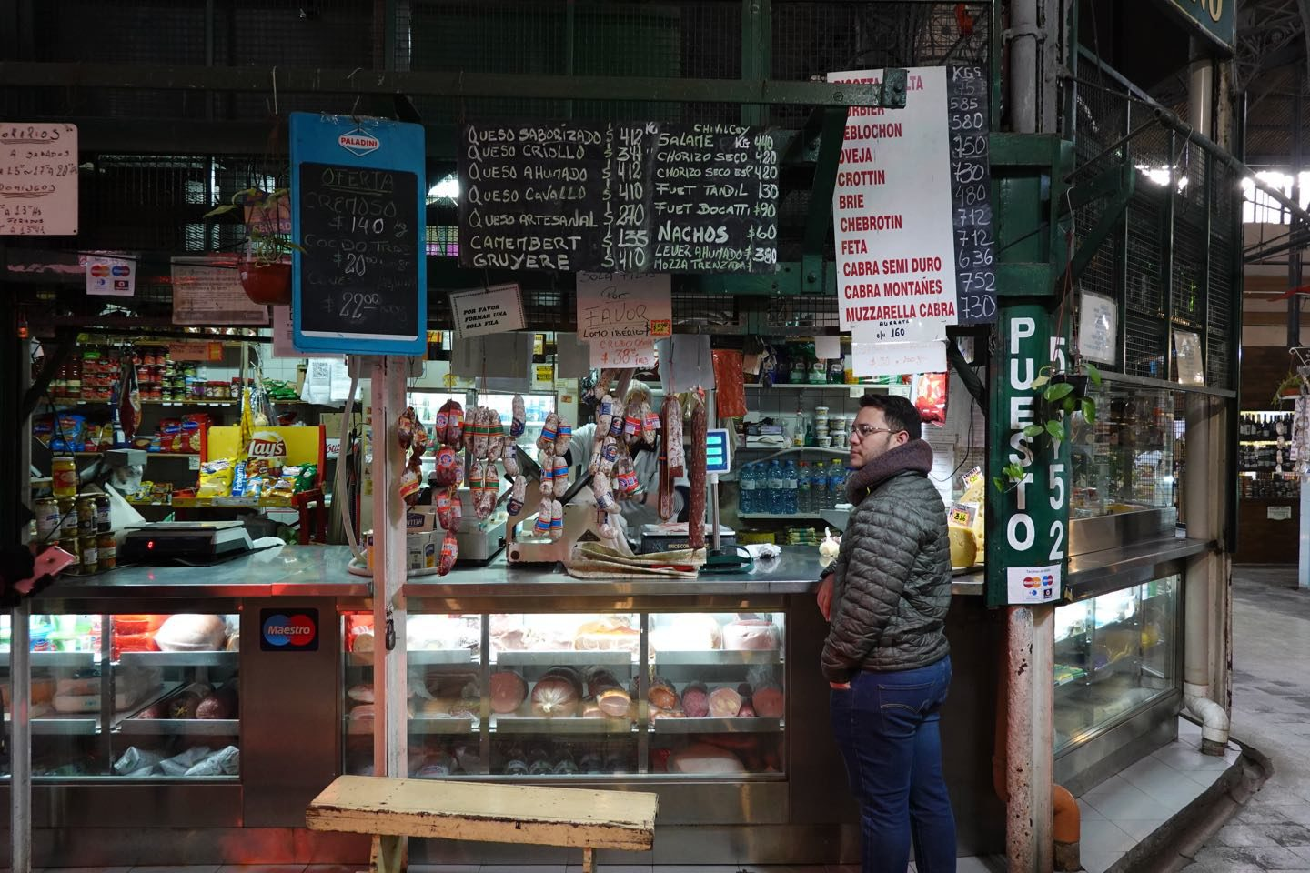 Food store in the San Telmo Market