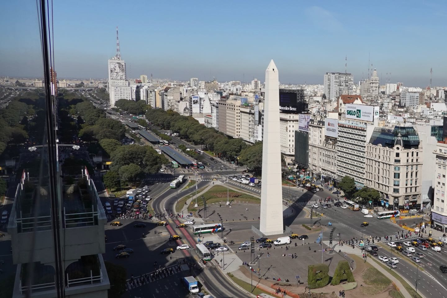 Hotels with the best views in Buenos Aires. Picture taken from the room.