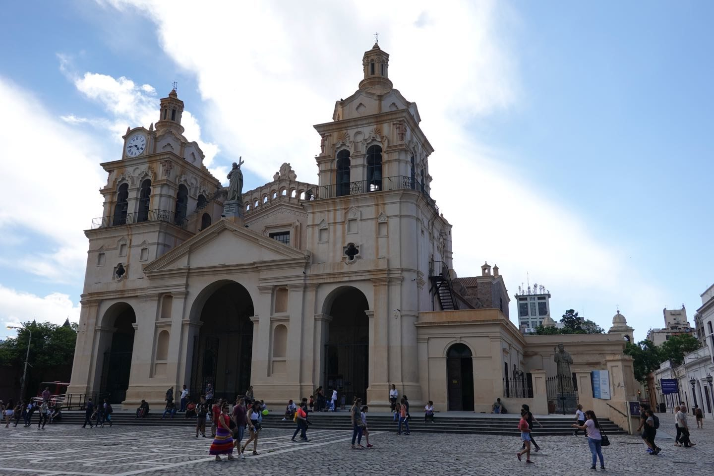 Outside of the Cathedral of Córdoba, front view