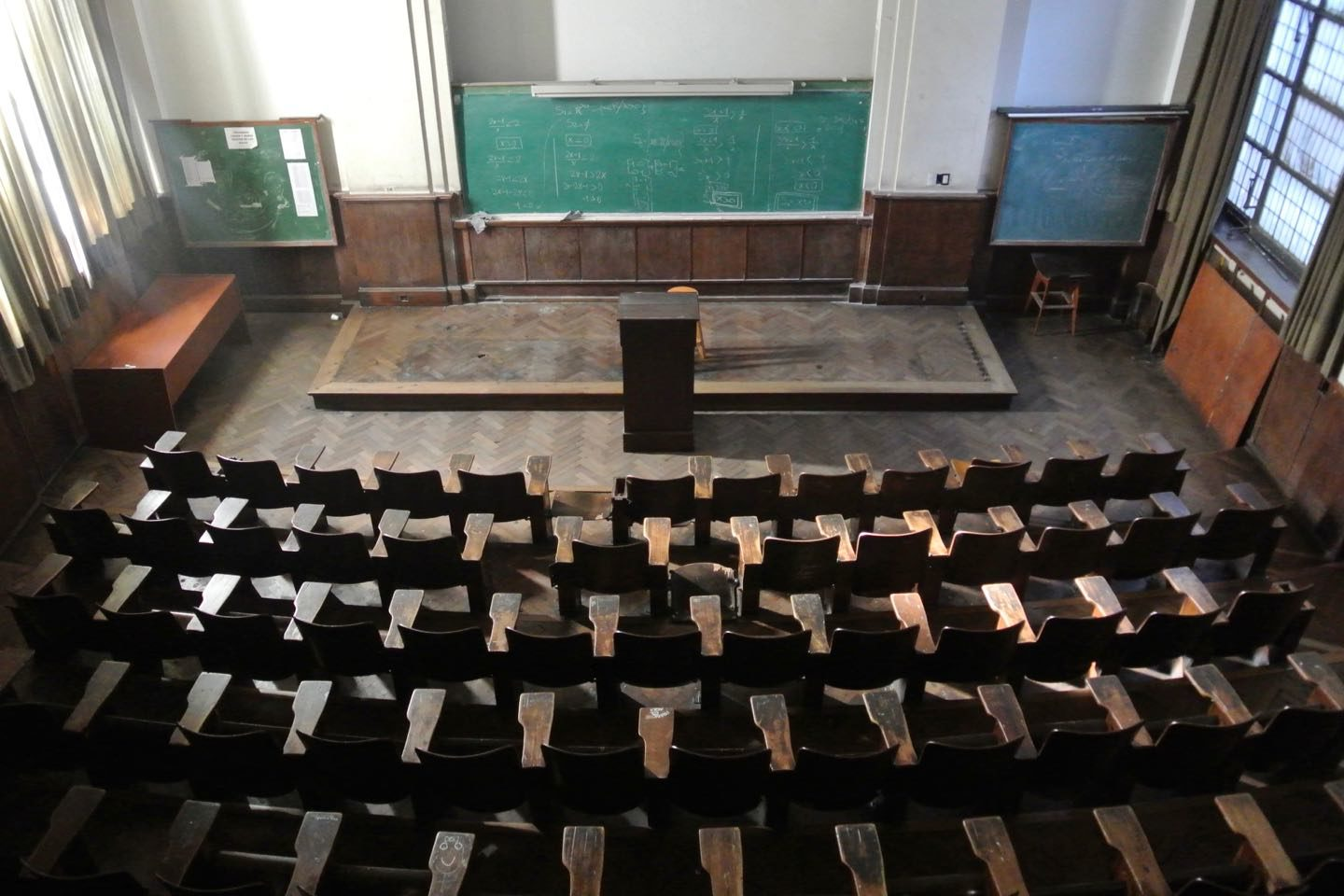 Classroom of the National University of Cordoba. Still in use.