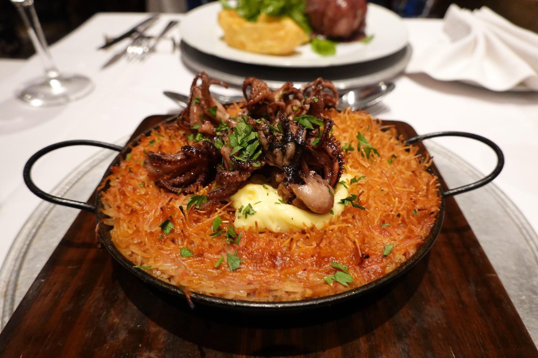 Main course (fideua). San Honorato Restaurant