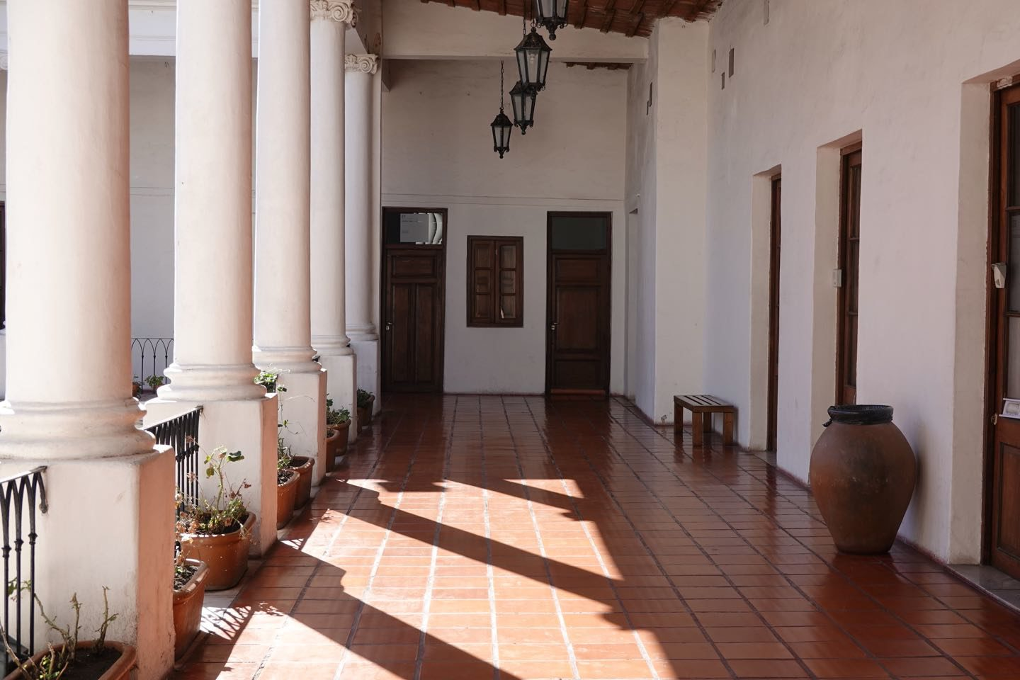 gallery inside the Cabildo on the first floor