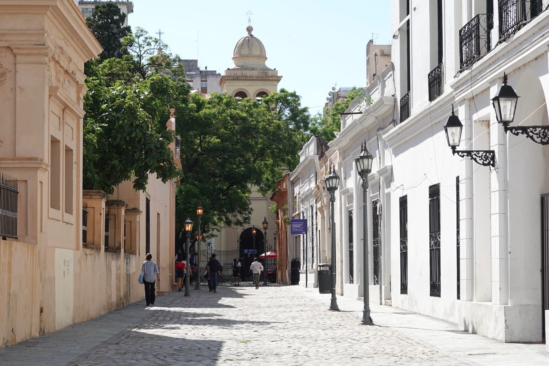 Pasaje Santa Catalina located between the Cathedral and the Cabildo-
