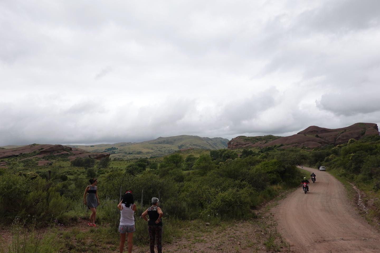 paisaje de la RP17 cerca de las Grutas de Ongamira.