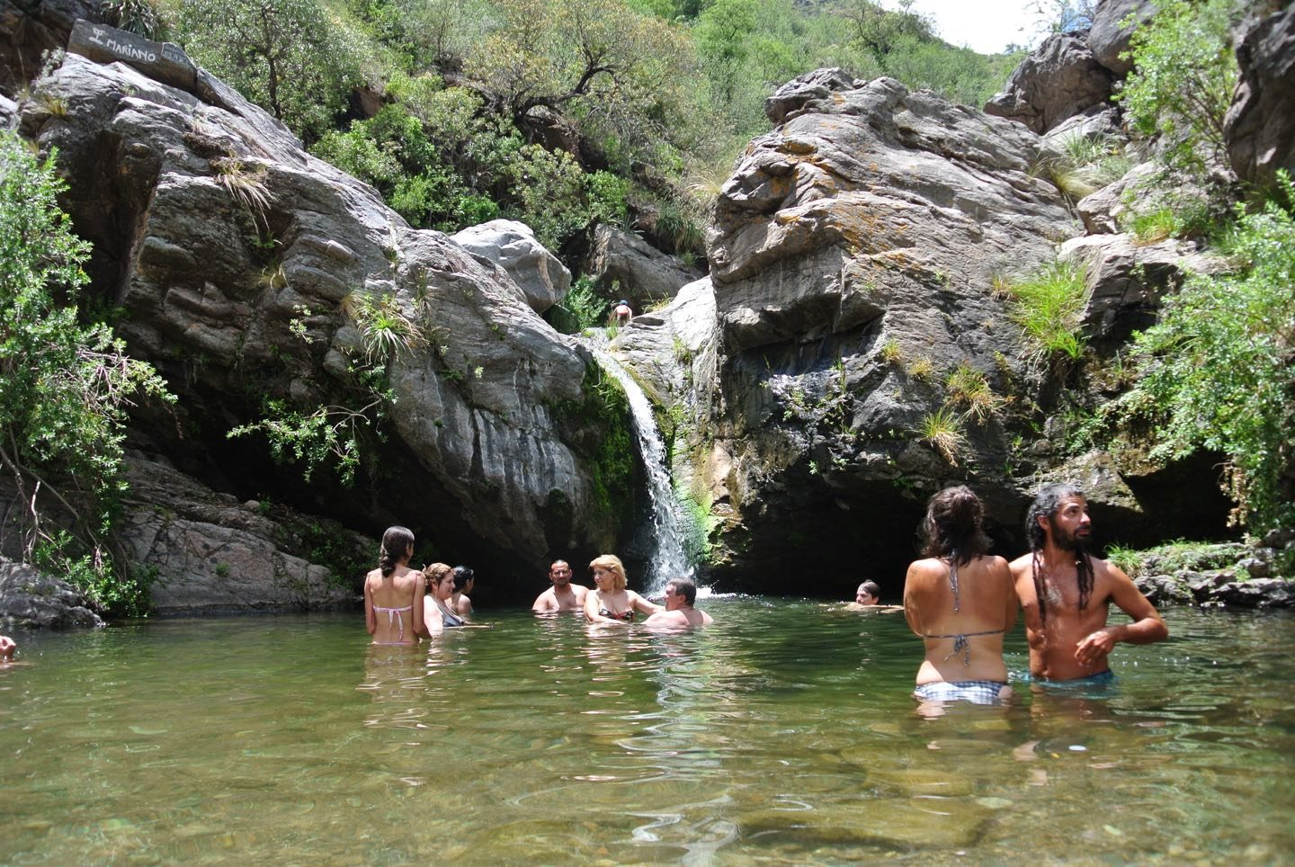 Natural pool at Balneario La Toma.
