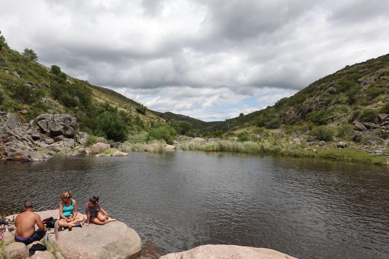 Natural pool of the Cascada de Olaen waterfall.