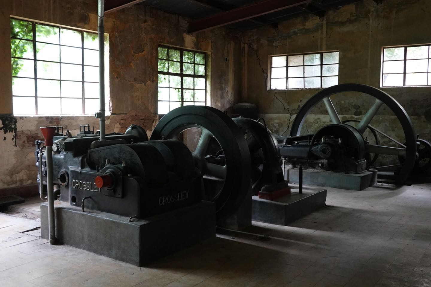 Abandoned electric generator of the Hotel Eden.