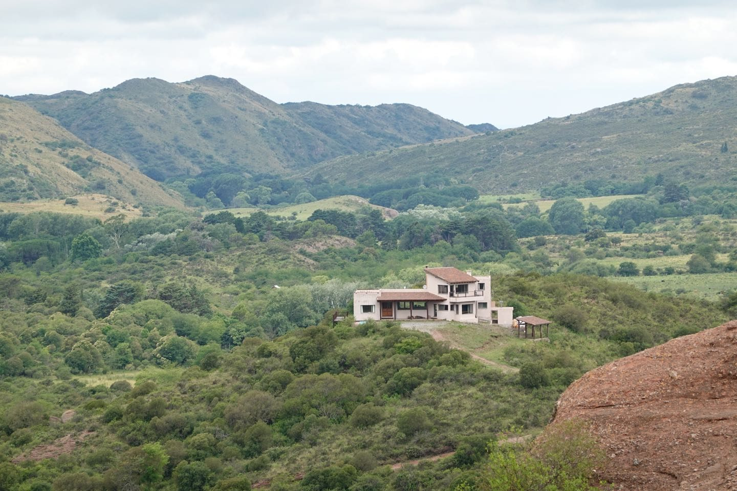 "House with amazing views seeing from ""La Calavera"" Viewpoint in Grutas de Ongamira."