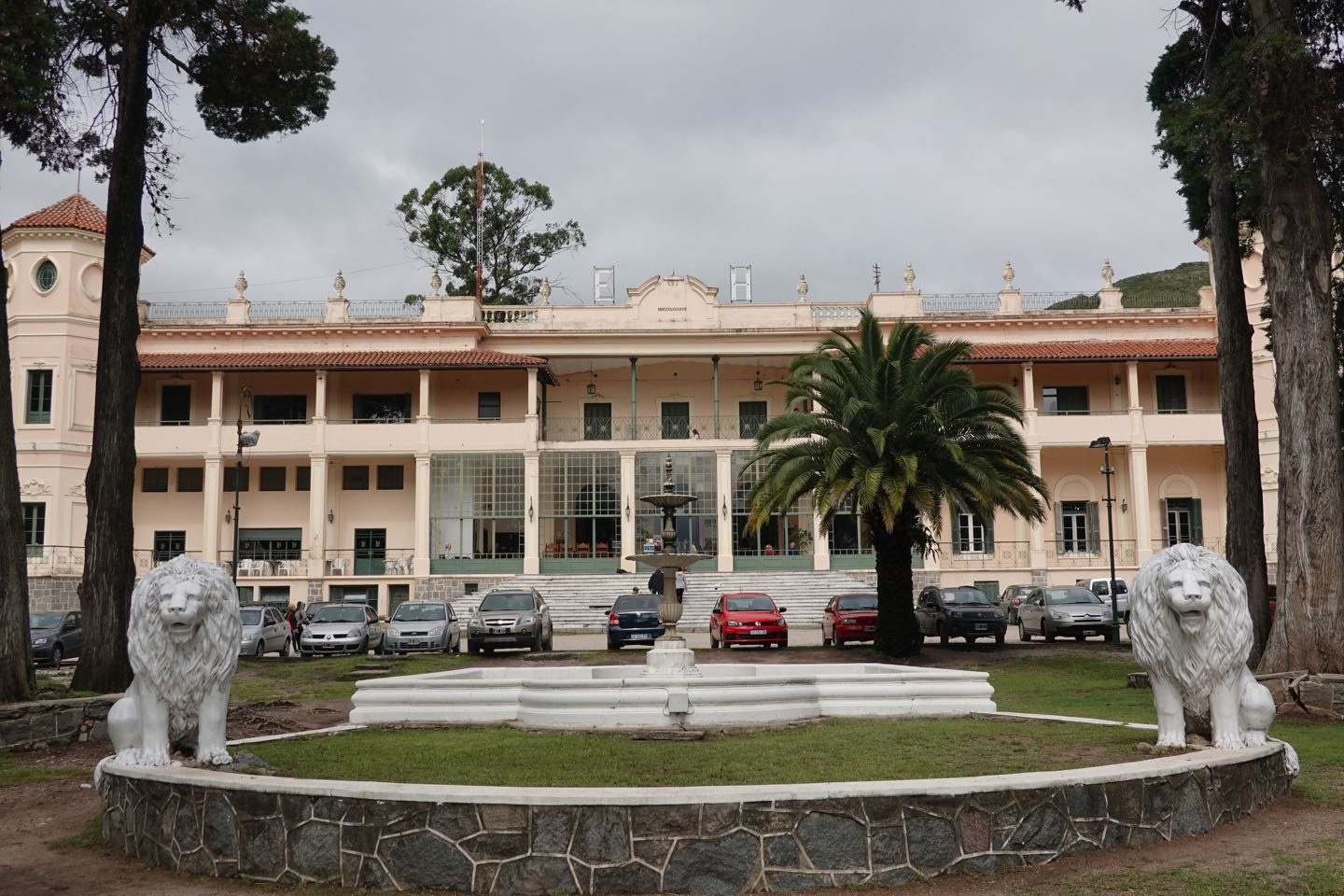 Front of the main building of the Hotel Eden
