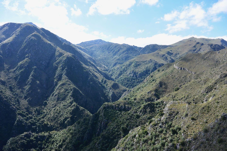 Mountain landscape on Huertas Malas hike.