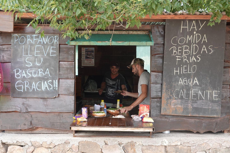 Kiosco-restaurant at the Cascada de Olaen Waterfall.