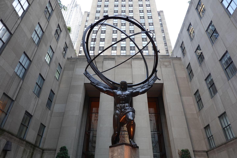 Atlas, un icono de muchas películas sobre Nueva York.