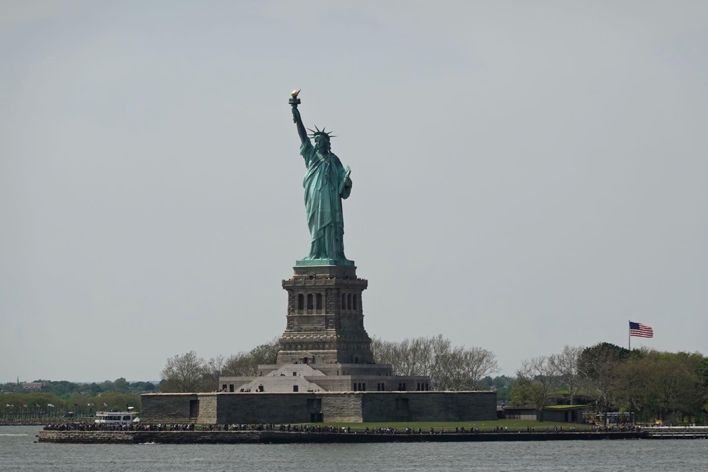 Estatua de la Libertad vista desde el Ferry a Staten Island.
