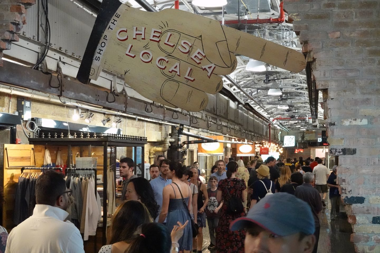 Inside the Chelsea Market.