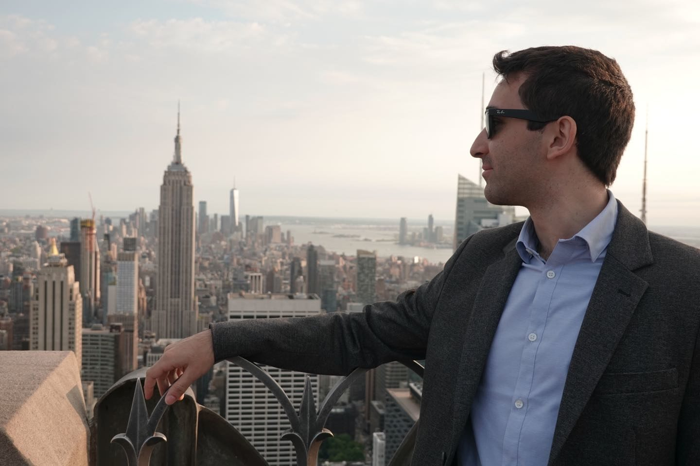 Portrait with the Empire State on the background.