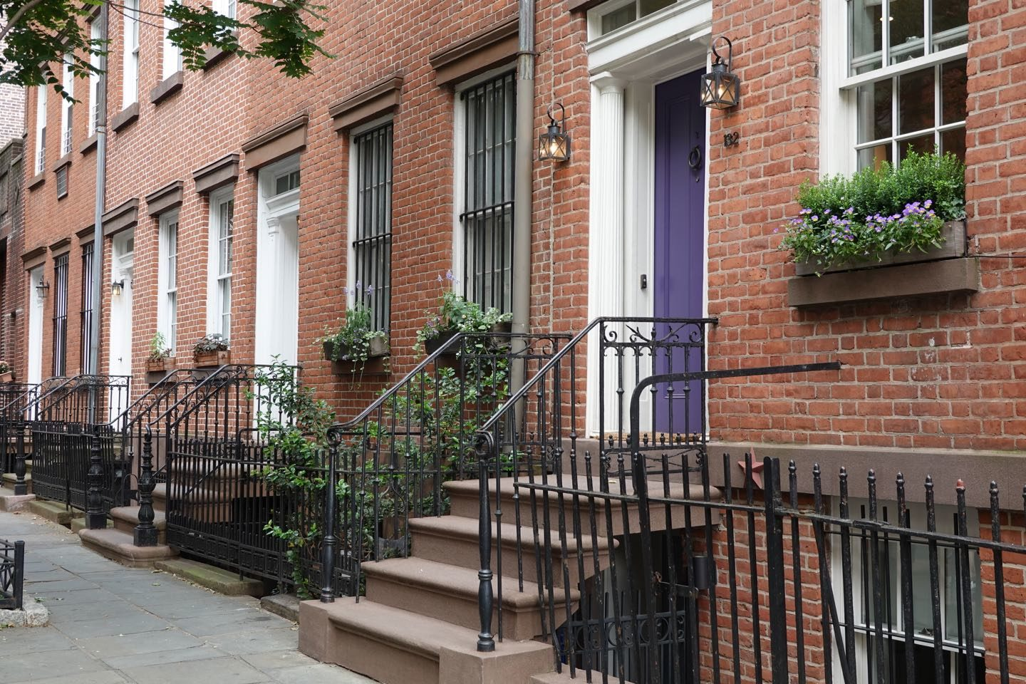 Typical houses in Greenwich Village