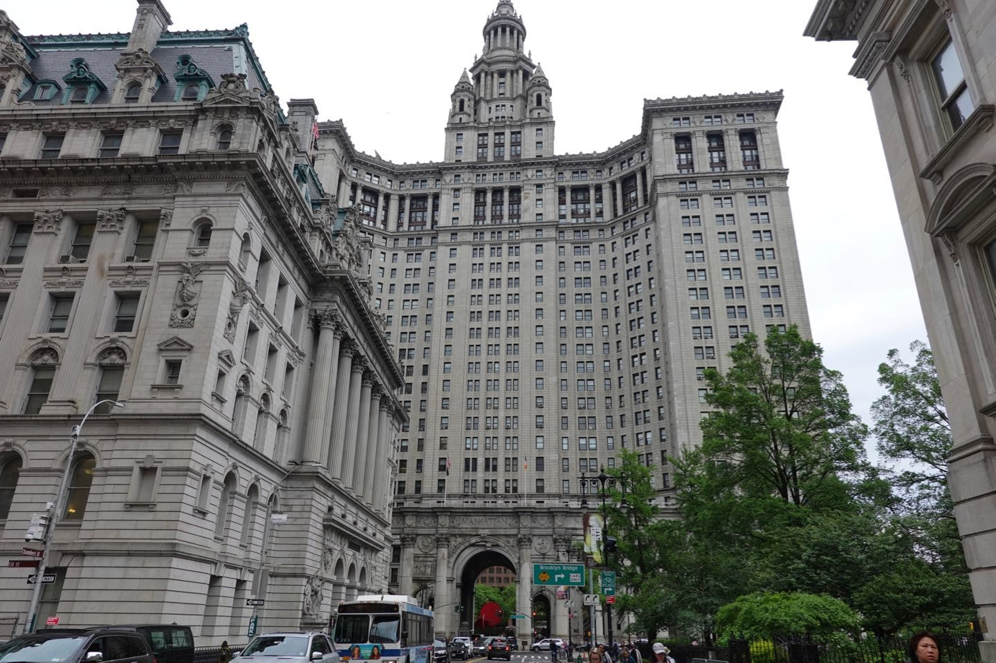 European Style Palace in NYC. The David N. Dinkins Municipal Building.
