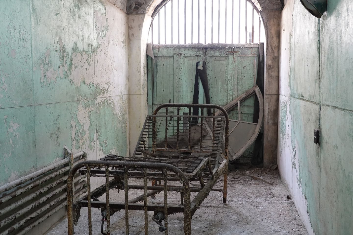 Hospital wing of abandoned prison you can visit in the US.