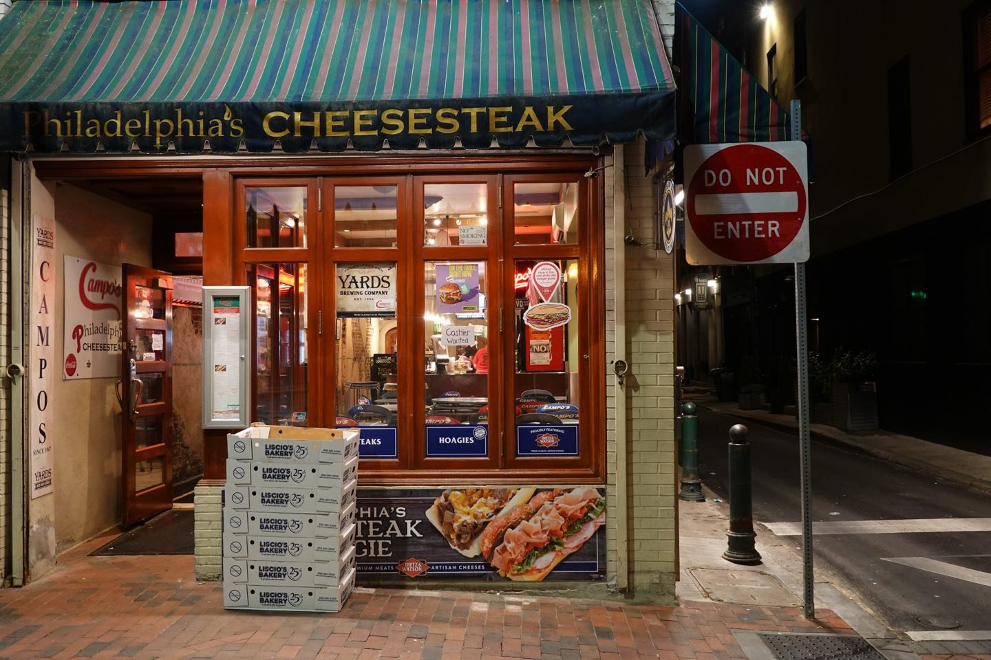Local specialties of Philadelphia: The Cheesesteak.