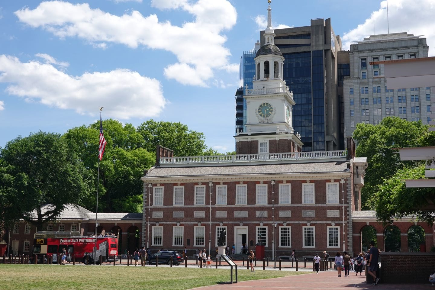 Independence Hall of Philadelphia.