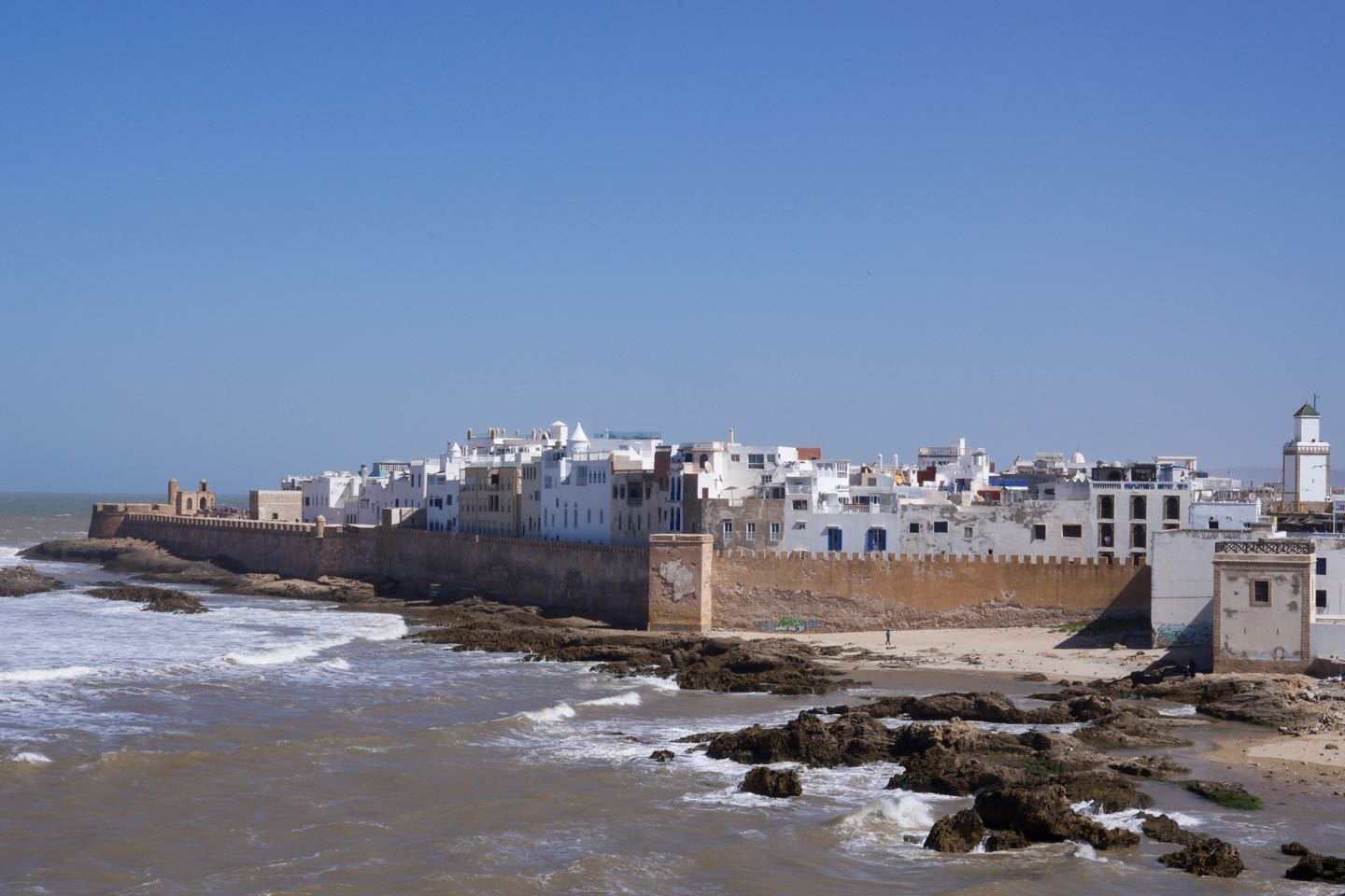 Best panoramic view of the Medina of Essaouira.