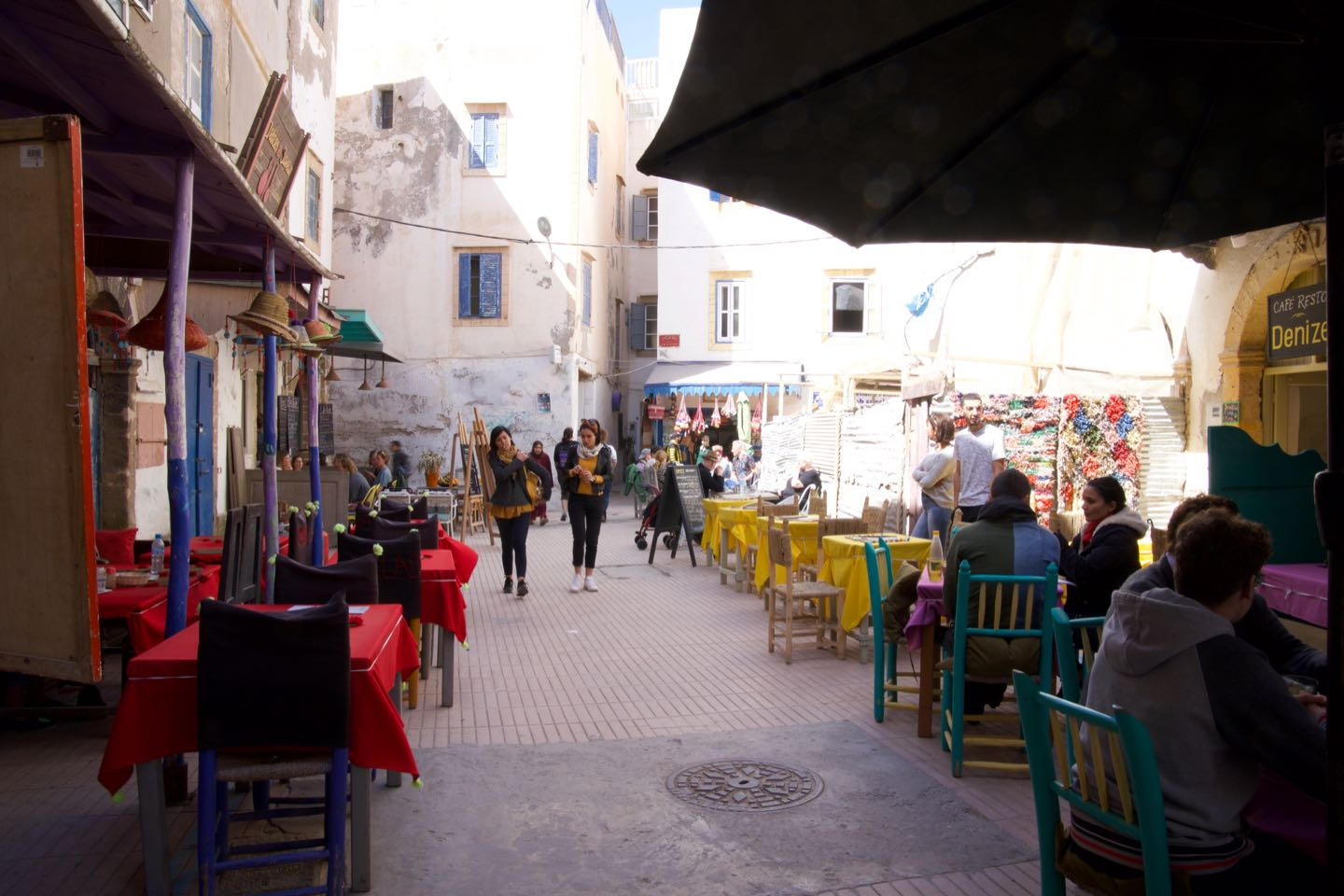 Rue Boutoil, a small alley full of restaurants.