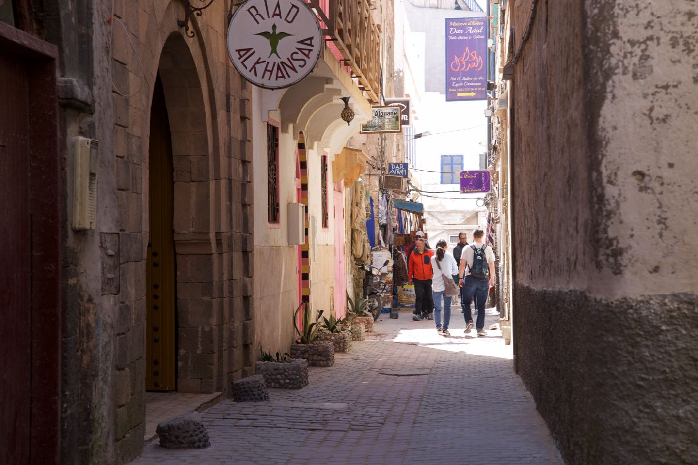 One of the many alleys of the medina of Essaouira.