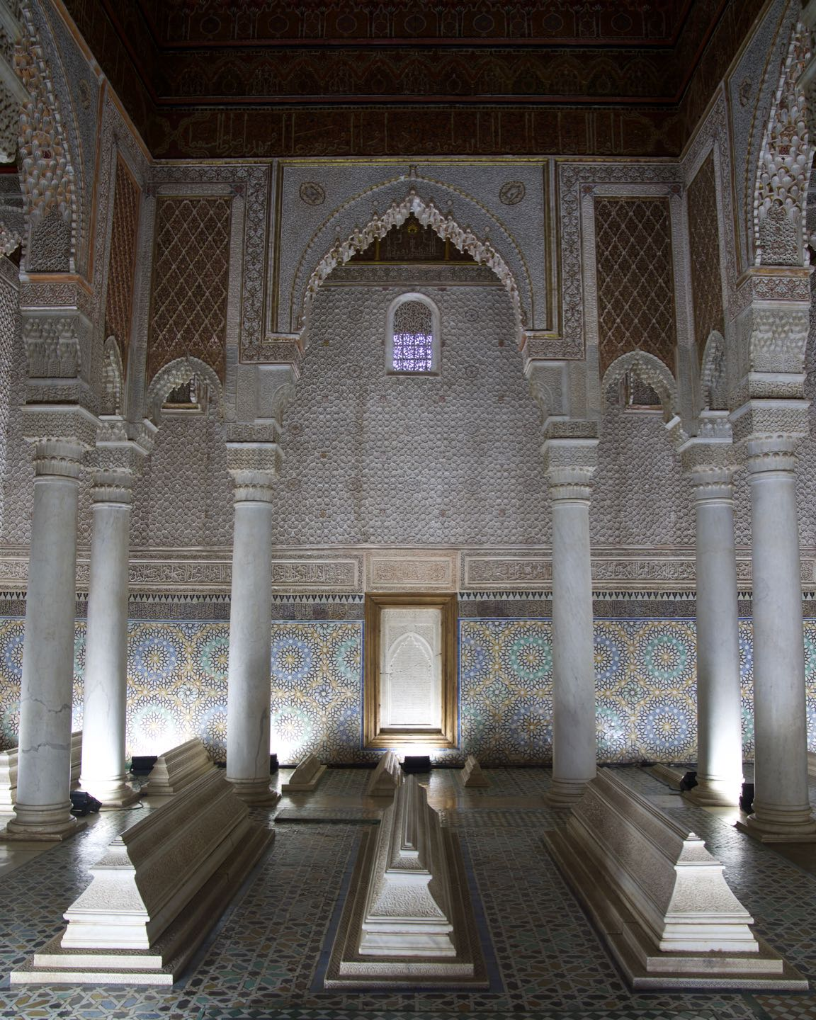 Saadien's Tombs is one of the famous attractions in Marrakesh.