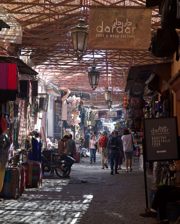 Market of the Medina of Marrakesh