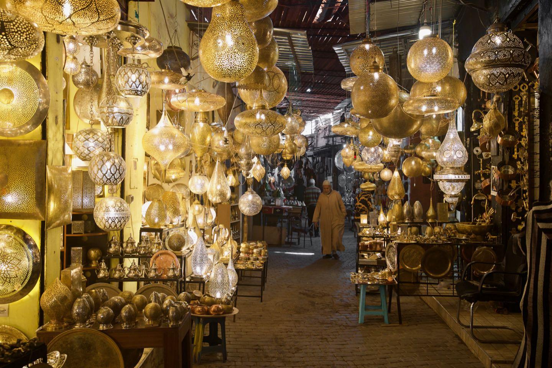 Beautiful lamp shop, Souks of the Medina of Marrakesh